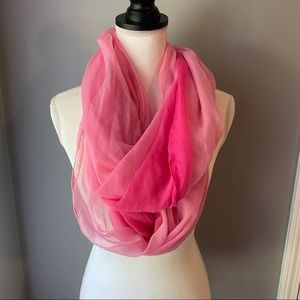 Pink Ombré Infinity Scarf